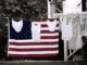 In afwachting van verkiezingdag wordt de Amerikaanse vlag gewassen