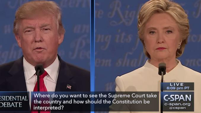 Screenshot van het derde debat