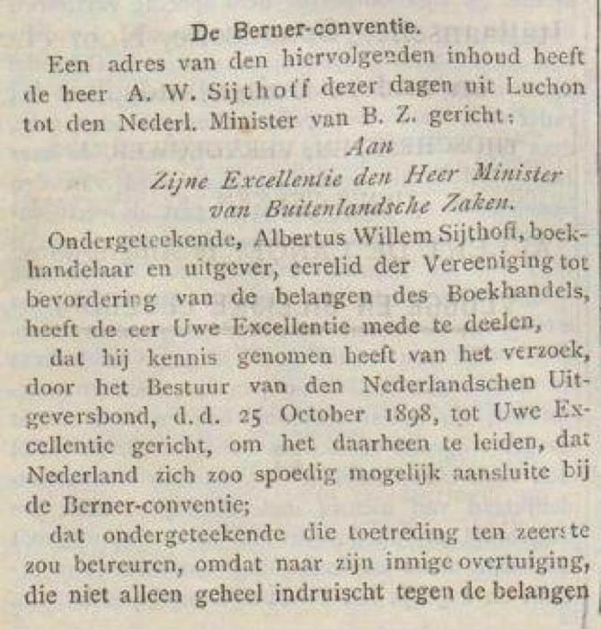 Uitsneden van het Nieuwsblad voor den Boekhandel in 1898. Via de KB, http://resolver.kb.nl/resolve?urn=dts:2835106:mpeg21:0004