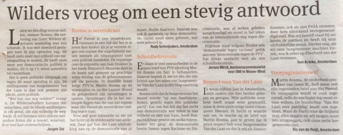 Brieven over PVV'er Martin Bosma, in Het Parool, 26 maart 2014, door Jeroen Mirck, via Flickr (Klik op de foto om de volledige resolutie foto te bekijken op Flickr.)