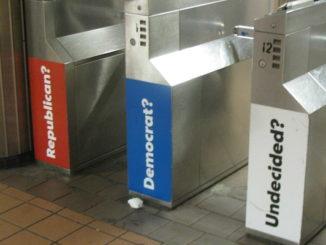 Republican? Democrat? Undecided?, door Eden, Janine and Jim, via Flickr.
