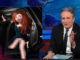 Merida bij The Daily Show met Jon Stuart.